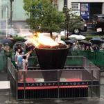川口市 聖火台 記念式典 東京オリンピック